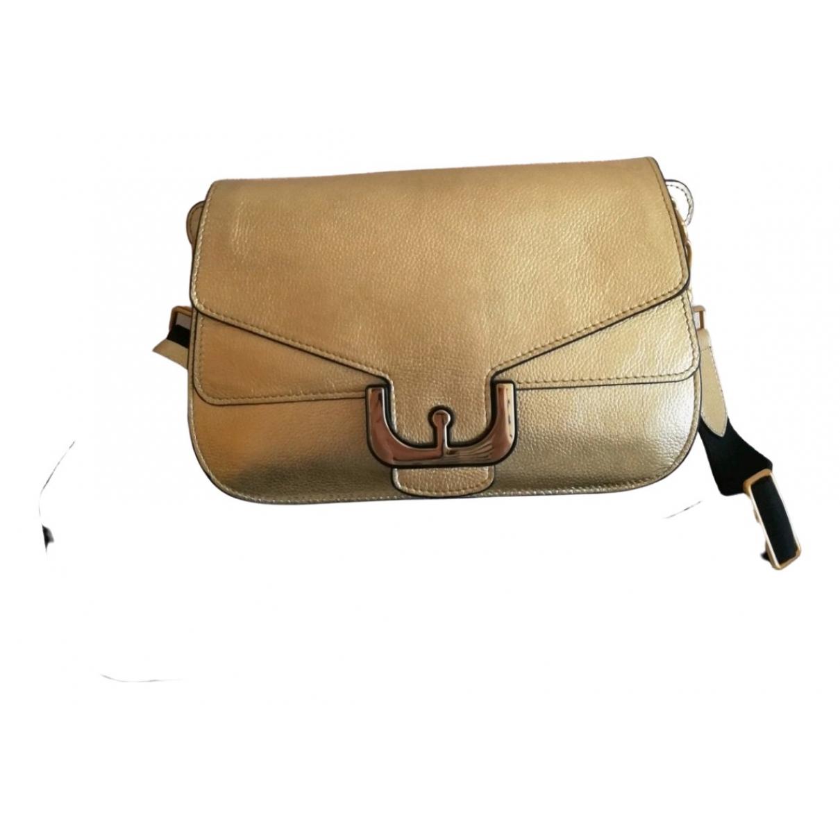 Coccinelle \N Handtasche in  Gold Leder