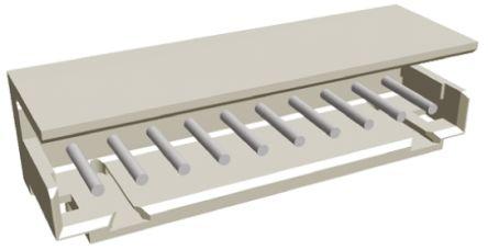 TE Connectivity , AMP CT, 10 Way, 1 Row, Right Angle PCB Header (5)