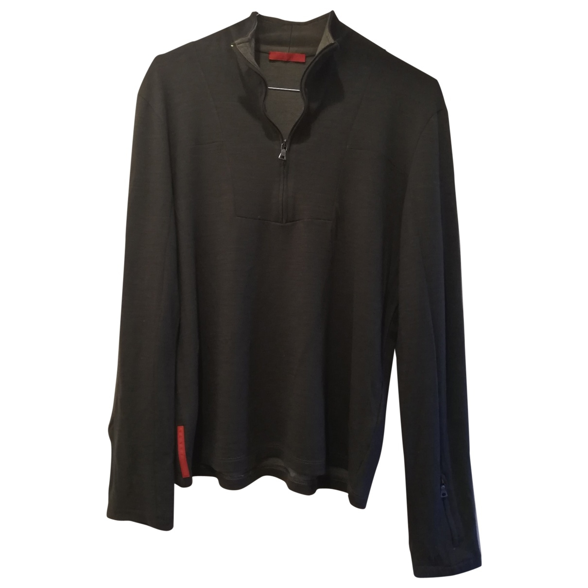 Prada \N Pullover in  Khaki Wolle