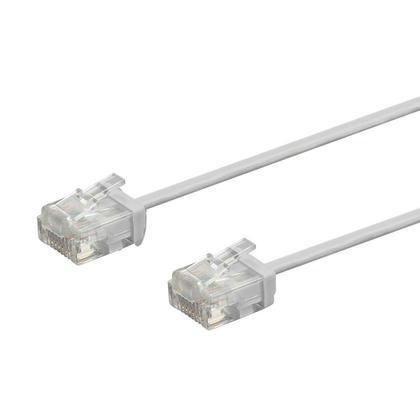 Câble de brassage Ethernet toronné Micro SlimRun 550MHz 36AWG Cat6 UTP - Monoprice® - Gris, 0,5pi