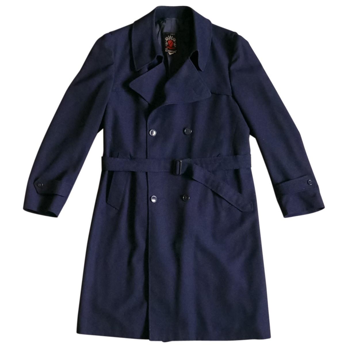 Autre Marque - Manteau   pour homme en laine - bleu