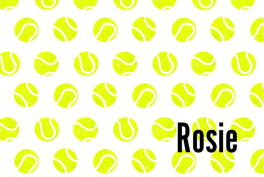 Patterns Placemat, Gift -Tennis Ball