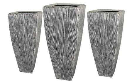 SGS3105-3107 Sandstone Ribbed Long Square Planter 3/Set  Heights: 24