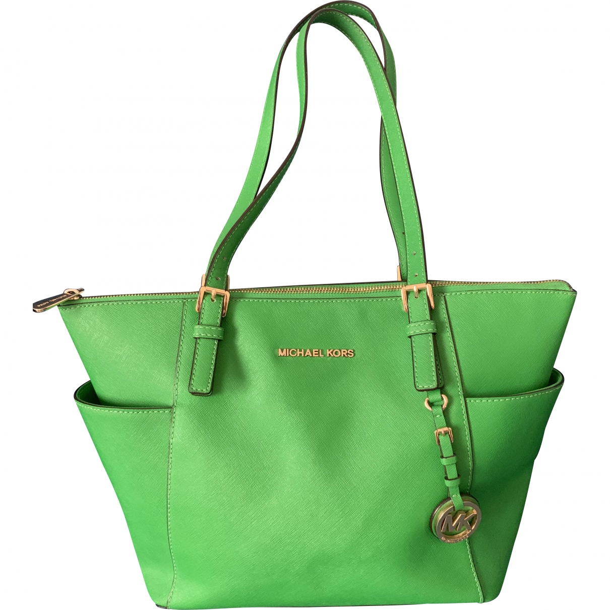 Michael Kors Jet Set Green Leather handbag for Women \N
