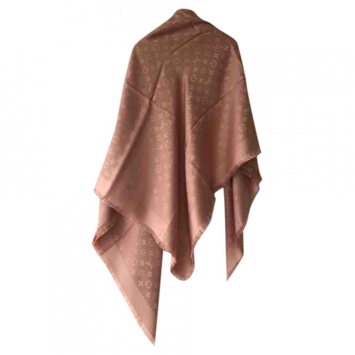 Louis Vuitton Châle Monogram shine Pink Silk scarf for Women \N