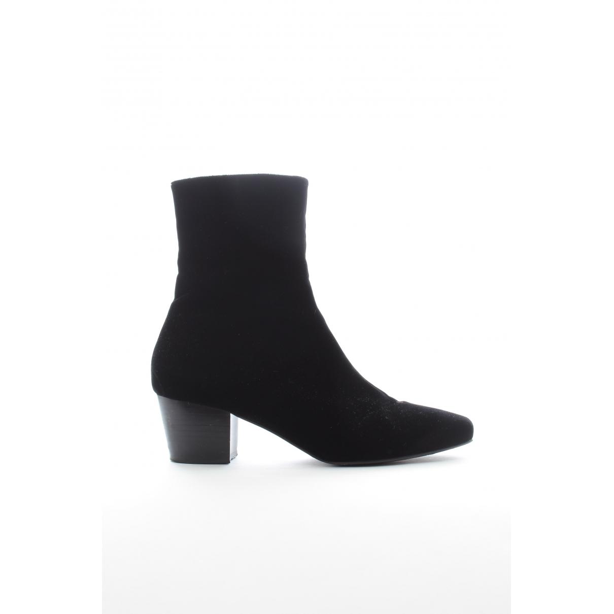 Dorateymur \N Black Velvet Ankle boots for Women 39 EU