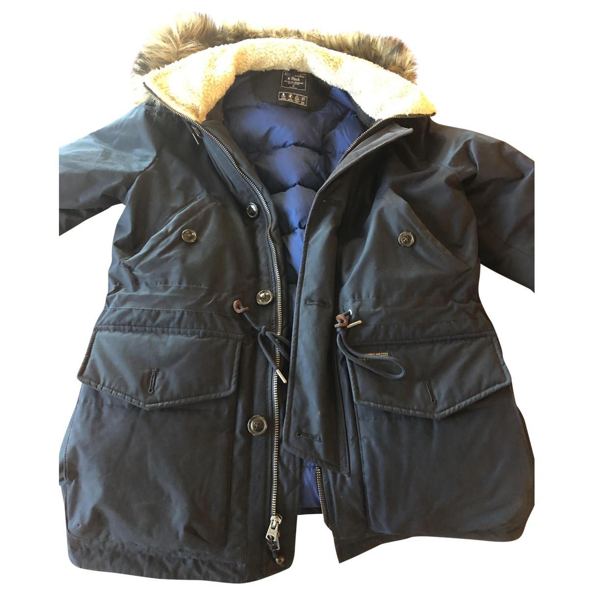 Abercrombie & Fitch - Manteau   pour homme - bleu