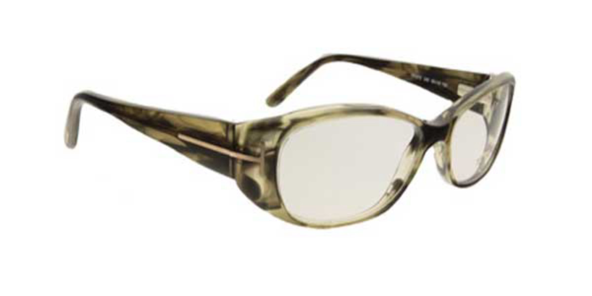 Tom Ford FT5075 U46 Women's Glasses Green Size 53 - Free Lenses - HSA/FSA Insurance - Blue Light Block Available