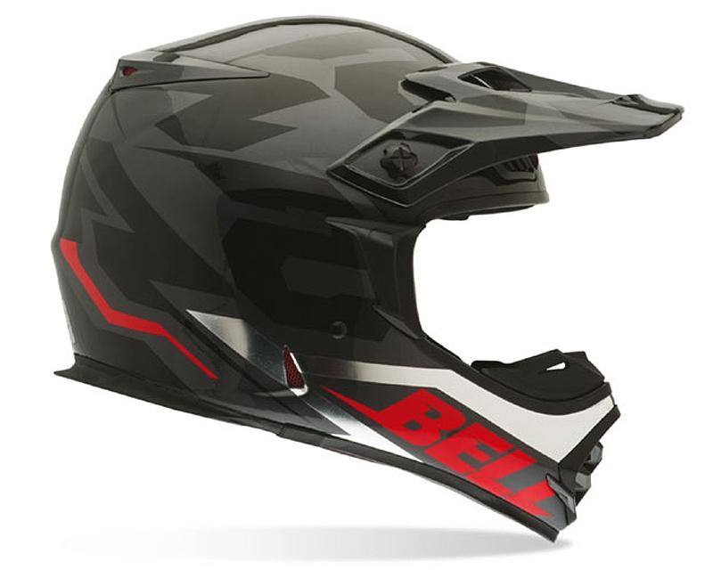 Bell Racing 7028350 MX-2 54 Black Chrome Helmet LG   58-59