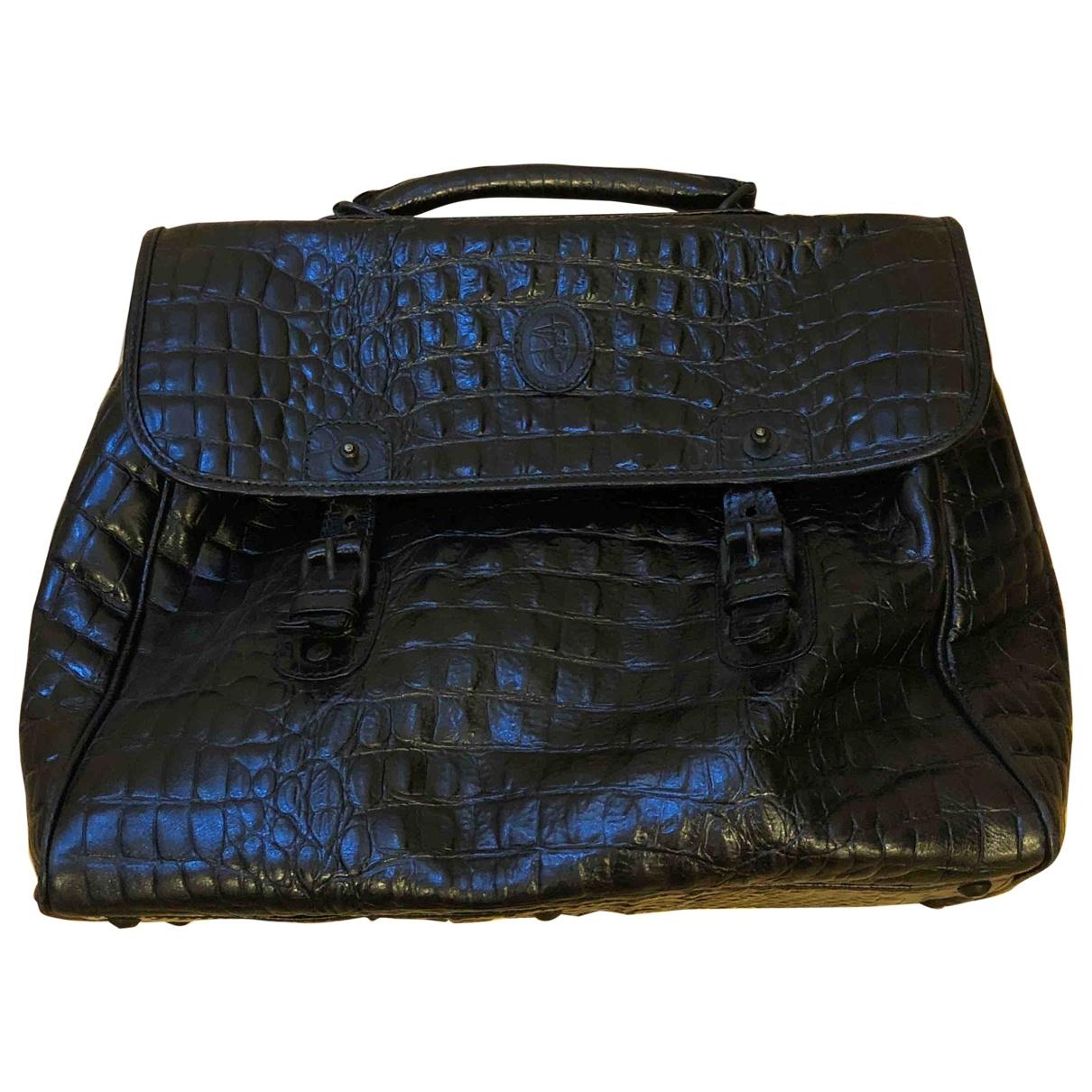 Trussardi \N Black Crocodile handbag for Women \N