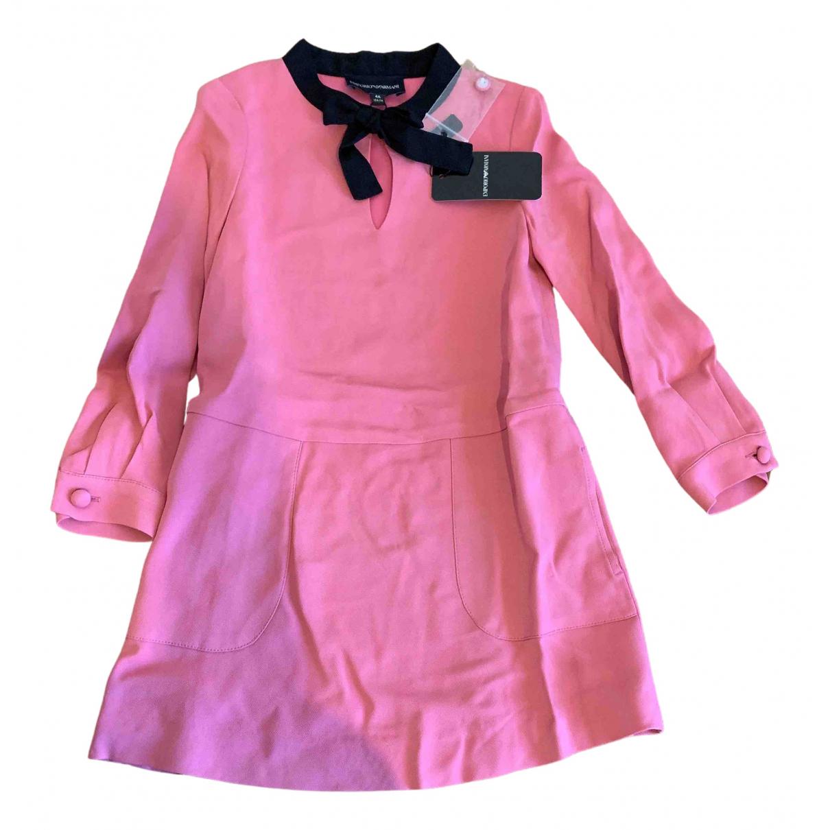 Emporio Armani \N Kleid in  Rosa Viskose