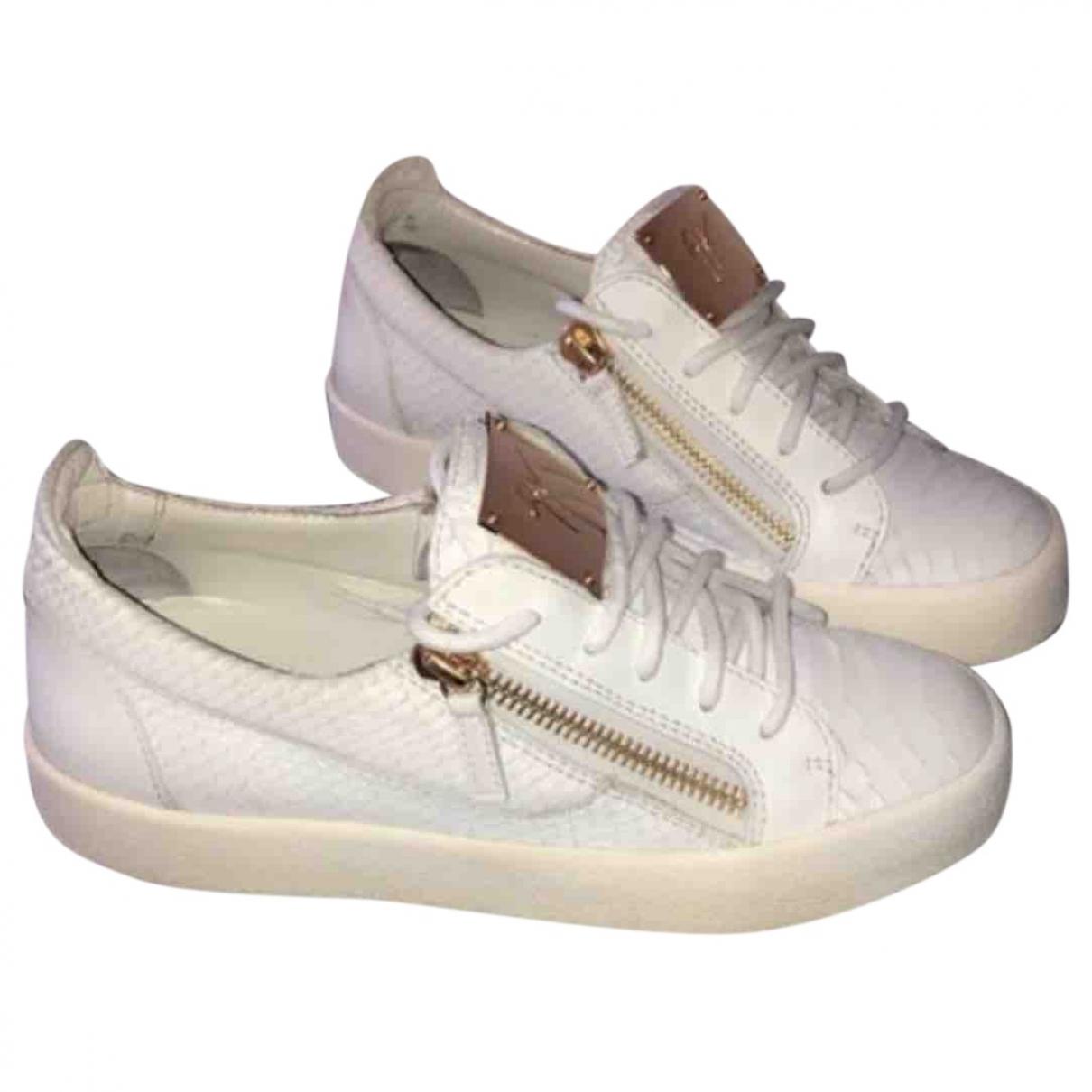 Giuseppe Zanotti - Baskets   pour femme en cuir - blanc