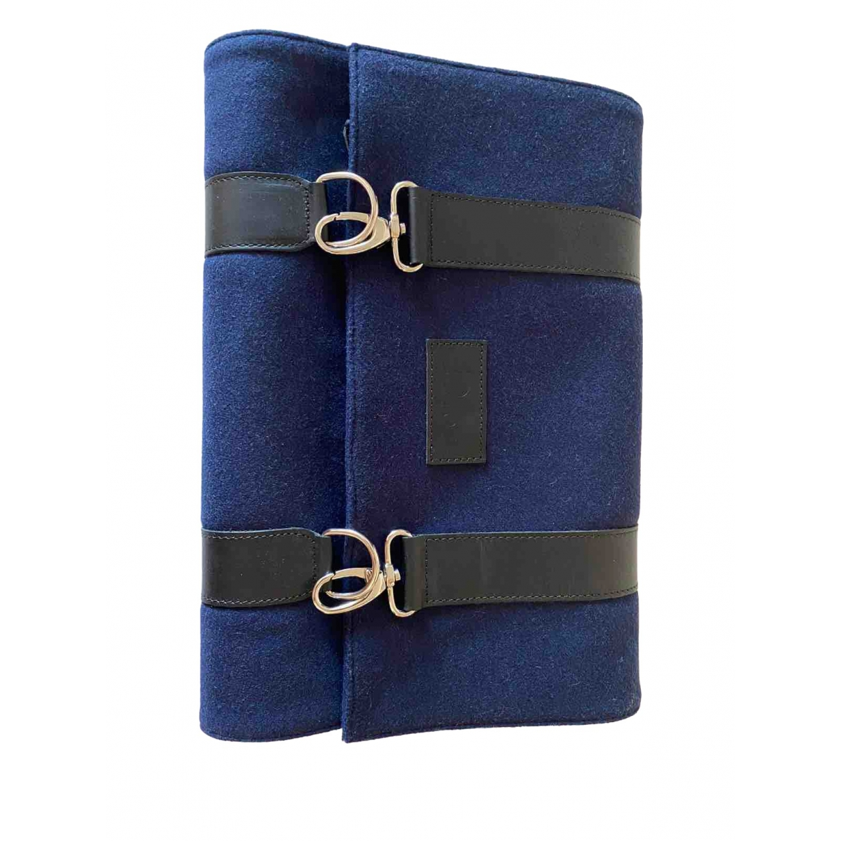 Dior Homme \N Blue Wool Small bag, wallet & cases for Men \N