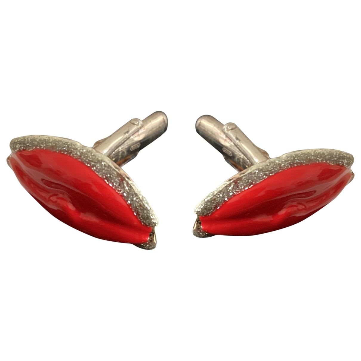 Delfina Delettrez N Red Silver Cufflinks for Men N
