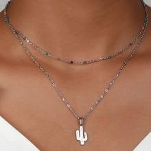 Halskette mit Kaktus Anhaenger