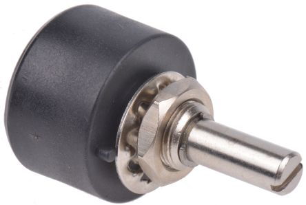 RS PRO 1 Gang Rotary Wirewound Potentiometer with an 6.35 mm Dia. Shaft - 10Ω, ±10%, 1W Power Rating, Linear, Panel