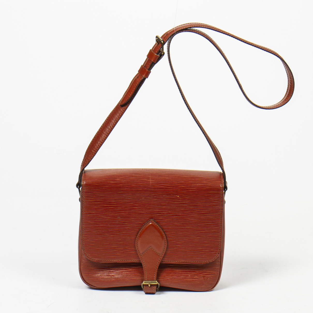 Louis Vuitton Cartouchiere Handtasche in  Khaki Leder