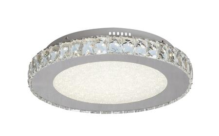 FT16 LED Flush Mount with Stainless Steel and Crystal Materials and 24 Watts in Clear