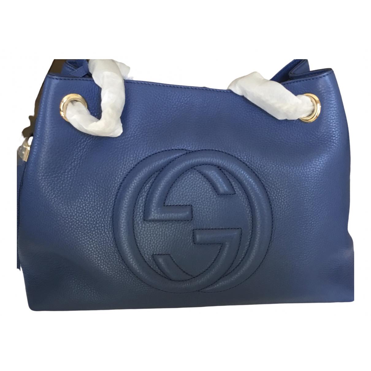 Gucci Soho Blue Leather handbag for Women \N