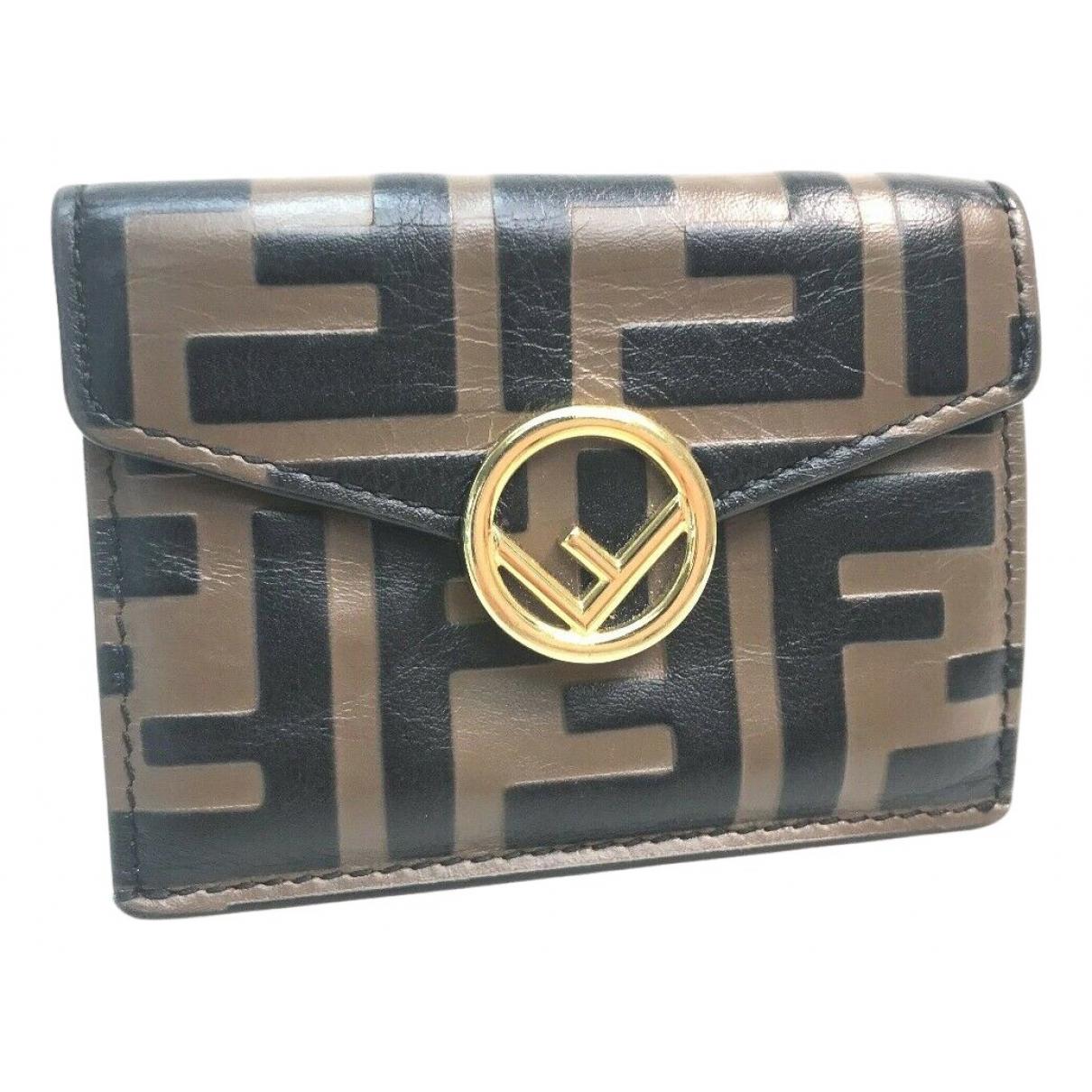 Fendi N Brown Leather wallet for Women N