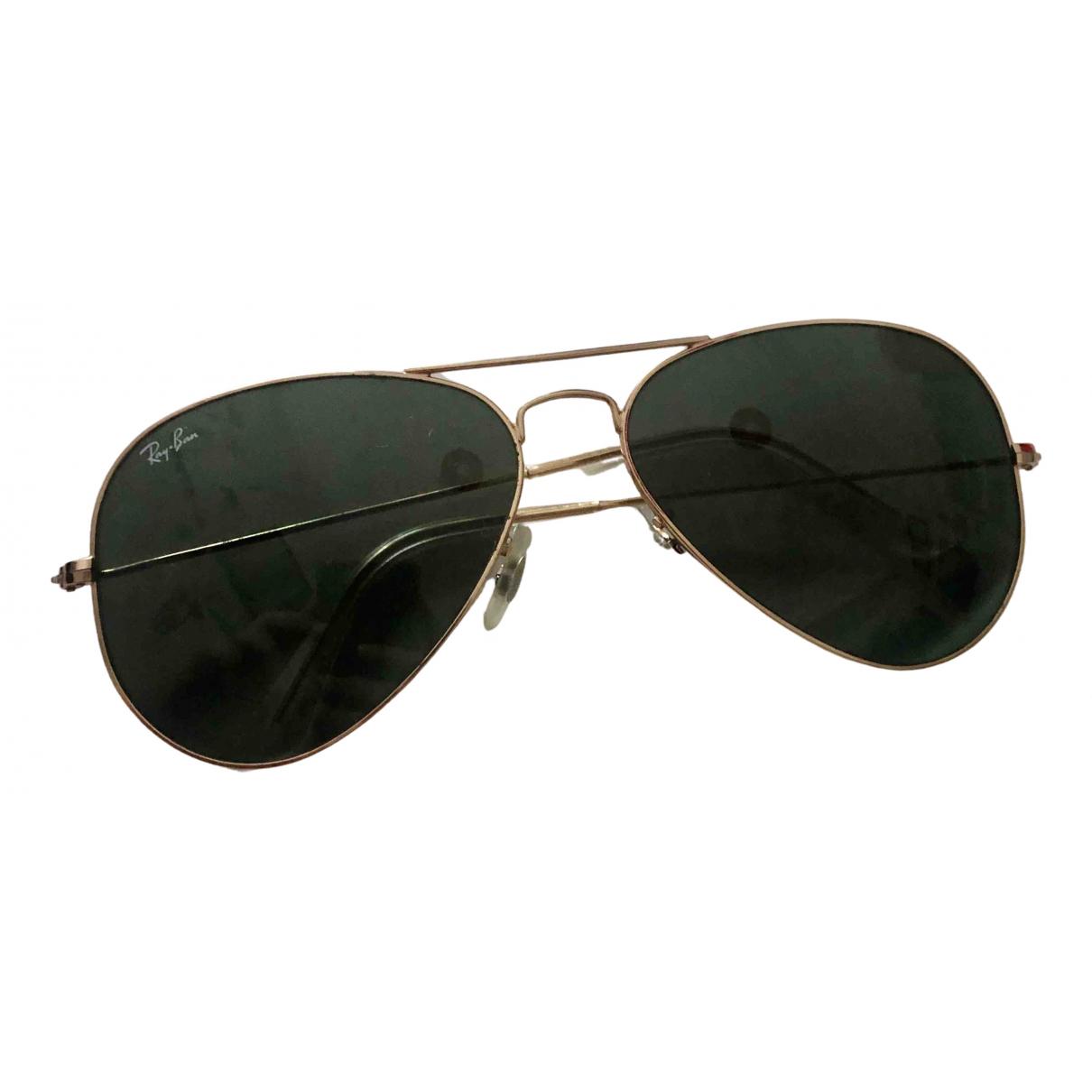 Ray-ban Aviator Sonnenbrillen in  Gruen Metall