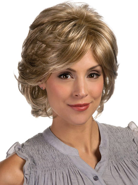 Milanoo Flaxen Heat-resistant Fiber High Quality Woman's Short Wig