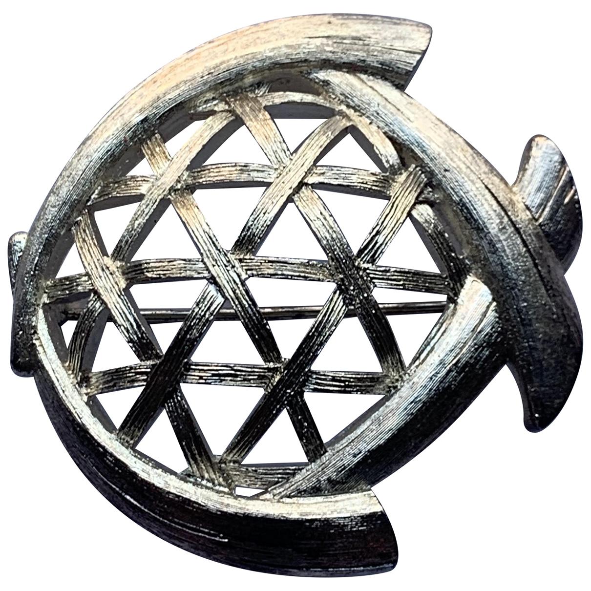 Broche en Metal Plateado Kenzo