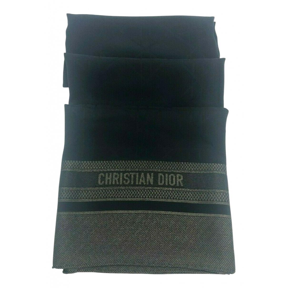Dior \N Black Wool scarf for Women \N