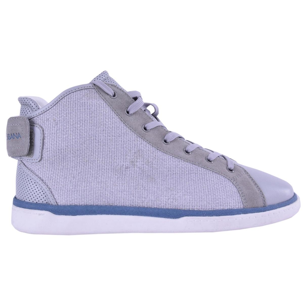 Dolce & Gabbana \N Grey Cloth Trainers for Men 44.5 EU