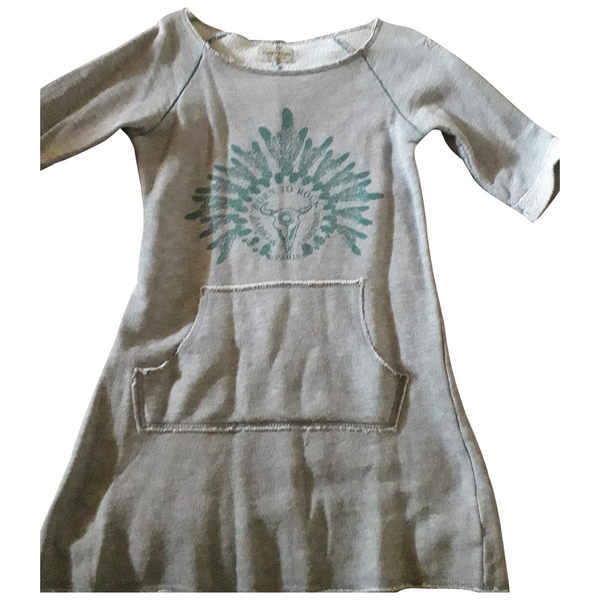 Zadig & Voltaire \N Kleid in  Grau Baumwolle