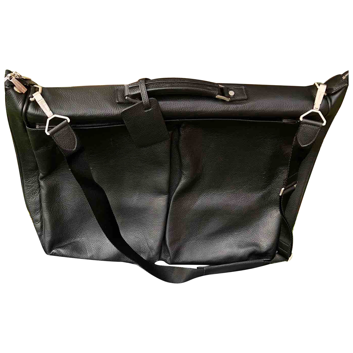 Ermenegildo Zegna \N Black Leather bag for Men \N