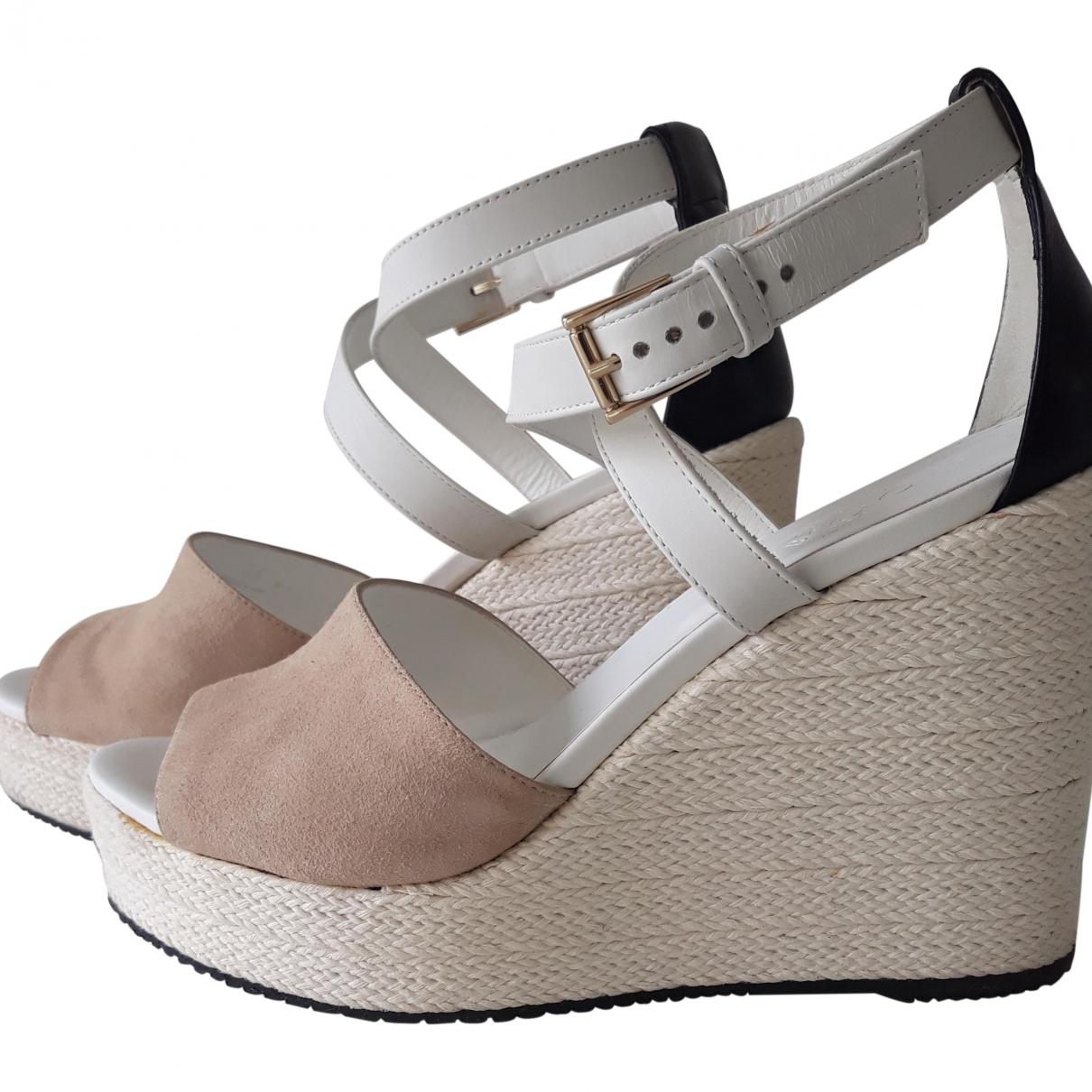 Hogan \N Beige Leather Sandals for Women 38 EU