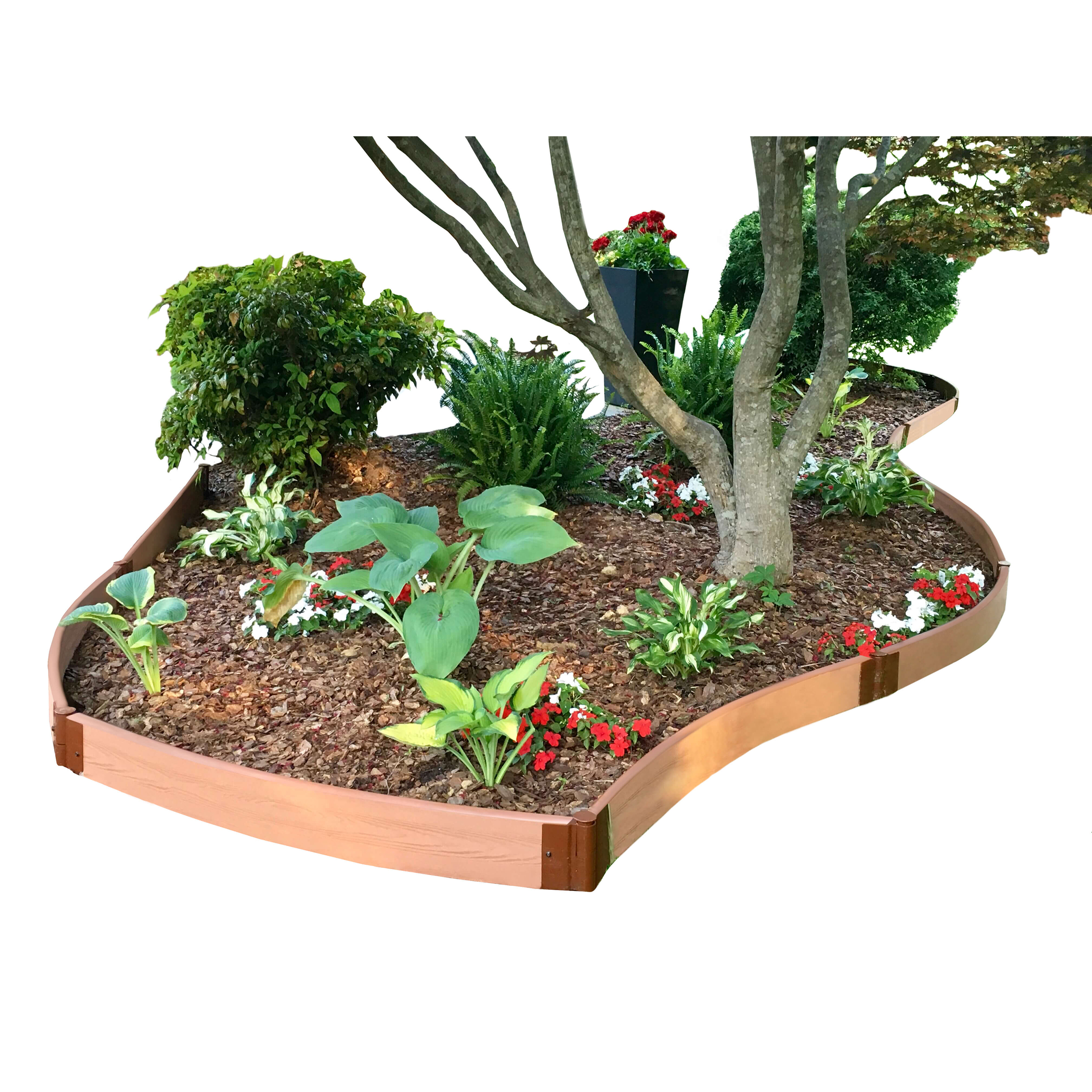 Classic Sienna Curved Landscape Edging Kit 16? ? 2? profile