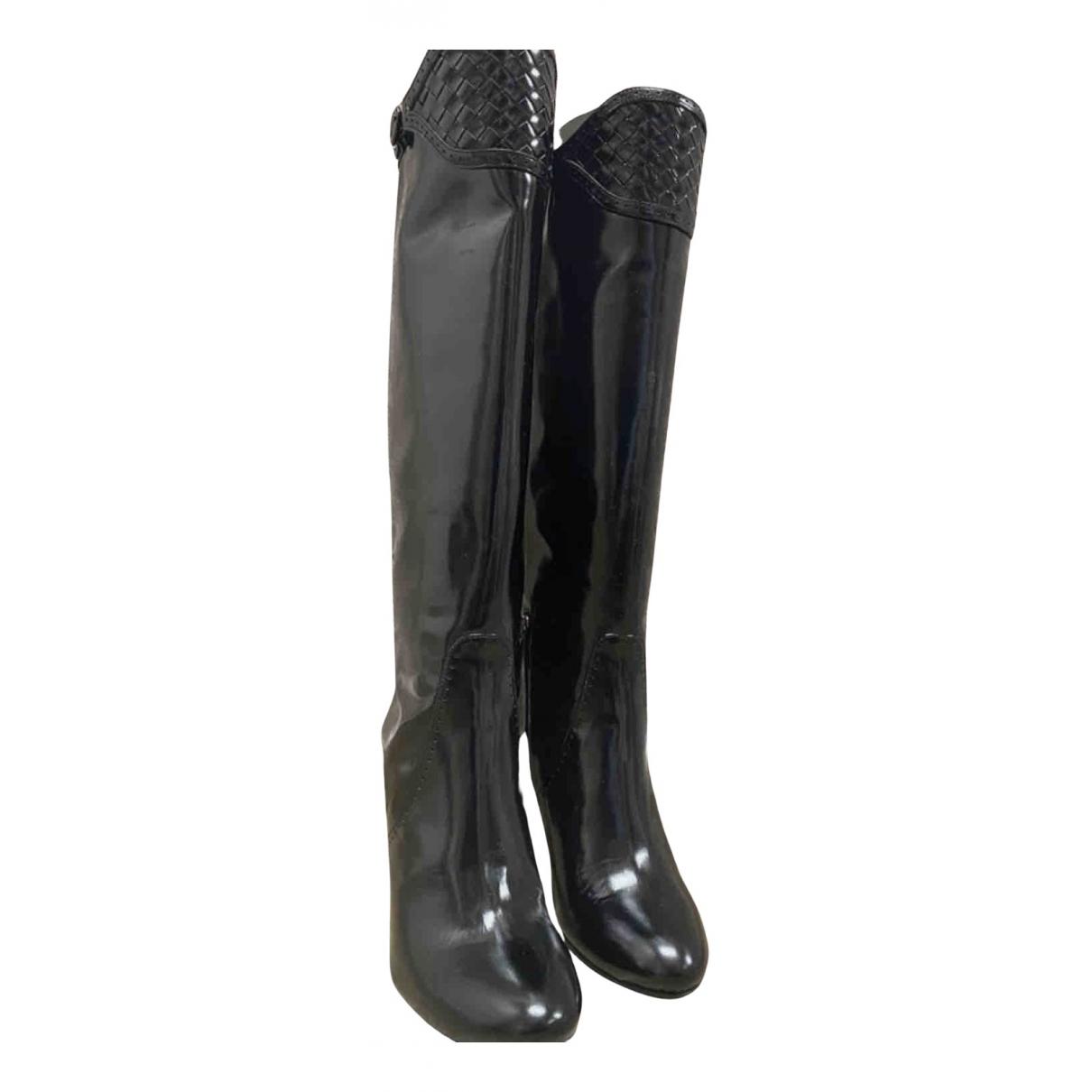 Bottega Veneta N Black Patent leather Boots for Women 40 EU