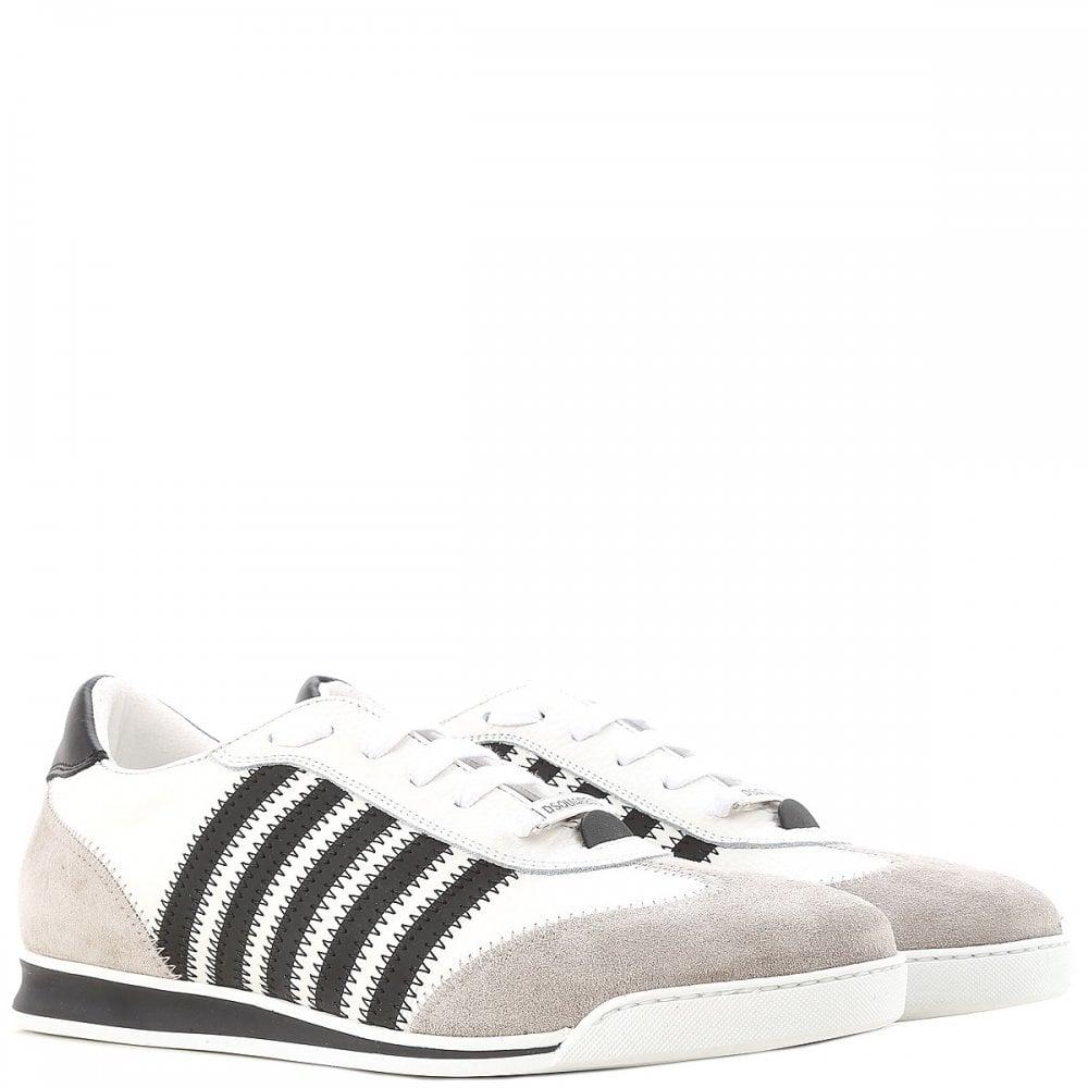 DSquared2 Multi-Stripe New Runner Trainers Colour: WHITE, Size: 10