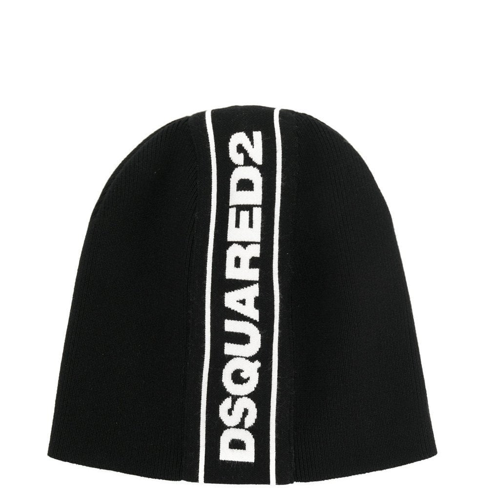 Dsquared2 Stripe Logo Hat Colour: BLACK, Size: ONE SIZE