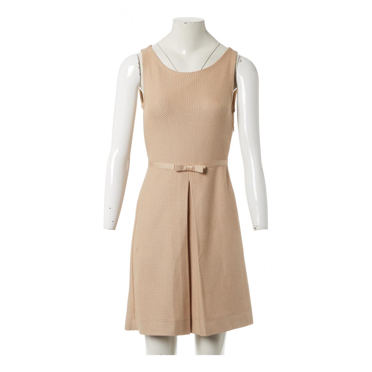 Christian Dior - Robe   pour femme en soie - beige