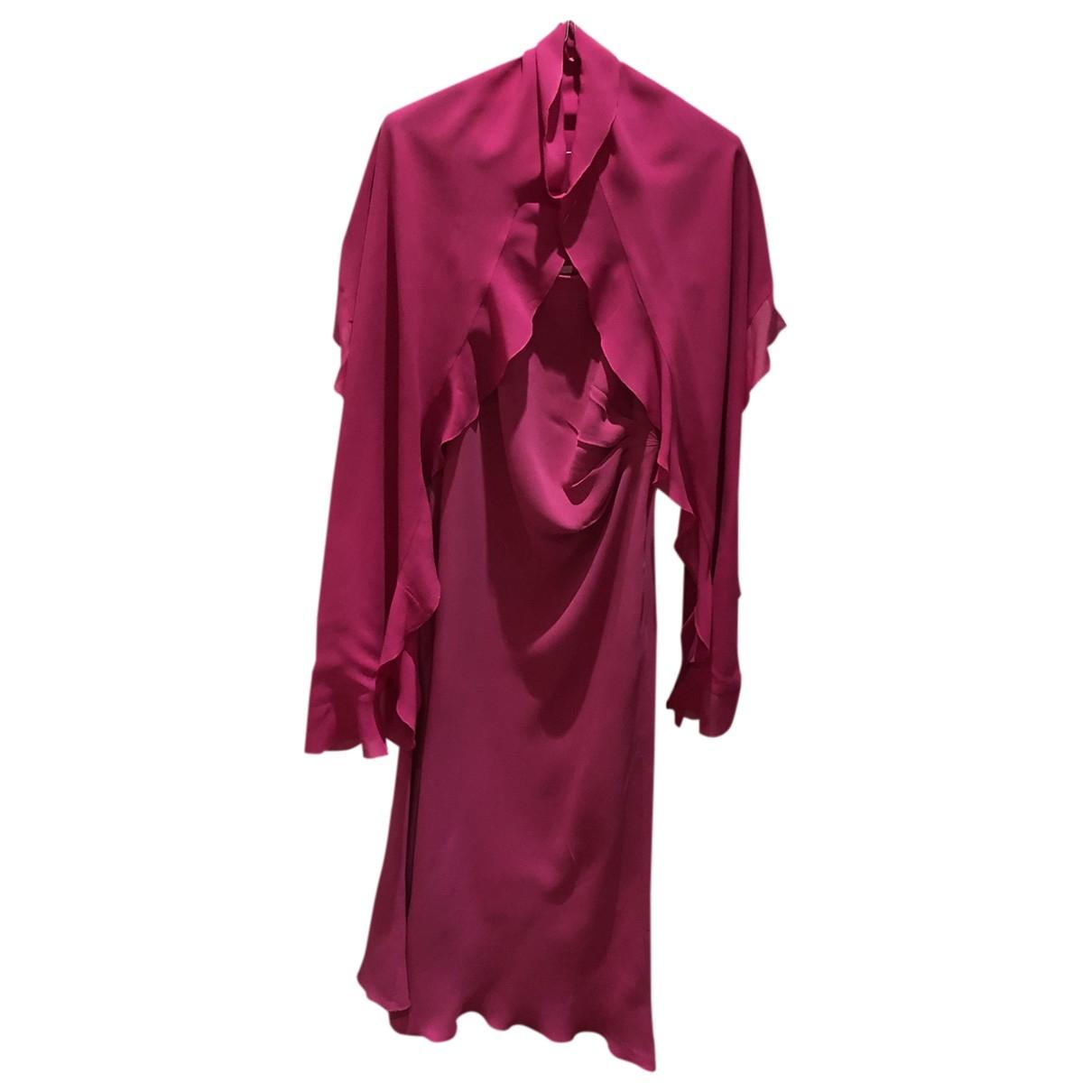 Emanuel Ungaro - Robe   pour femme en soie - rose