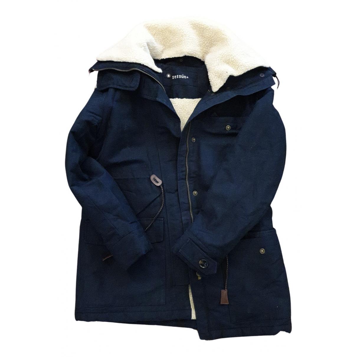 Sessun N Blue Cotton coat for Women 34 FR