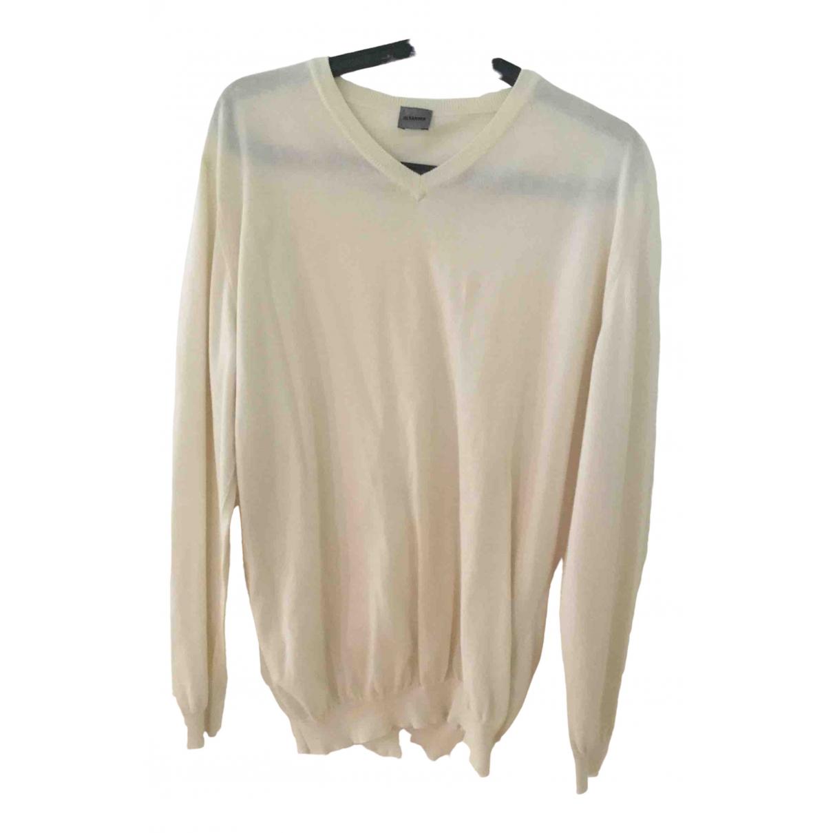 Jil Sander \N Pullover.Westen.Sweatshirts  in  Weiss Baumwolle