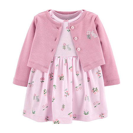 Carter's Baby Girls Short Sleeve 2-pc. Dress Set, 6 Months , Pink
