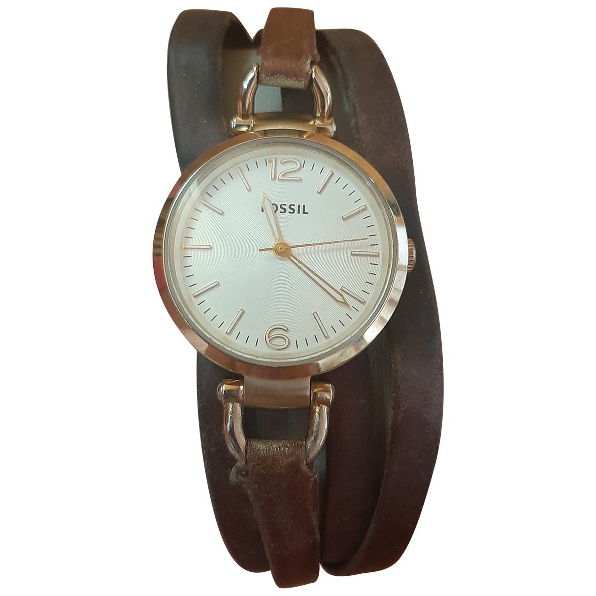 Fossil \N Brown Steel watch for Women \N