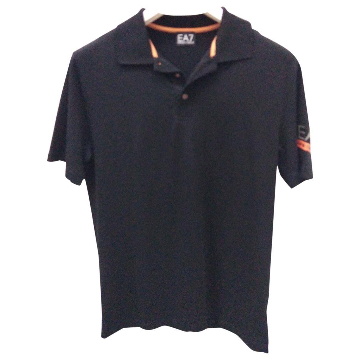 Emporio Armani \N Black Cotton Polo shirts for Men XL International