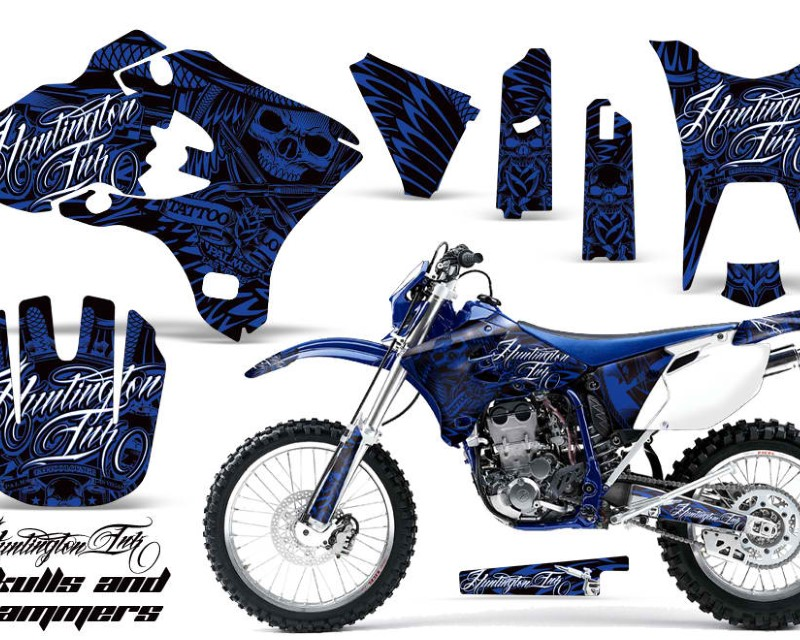 AMR Racing Dirt Bike Graphics Kit Decal Wrap For Yamaha WR250F WR450F 2003-2004áHISH BLUE