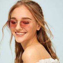 Gafas de sol de lentes tintadas de marco metalico