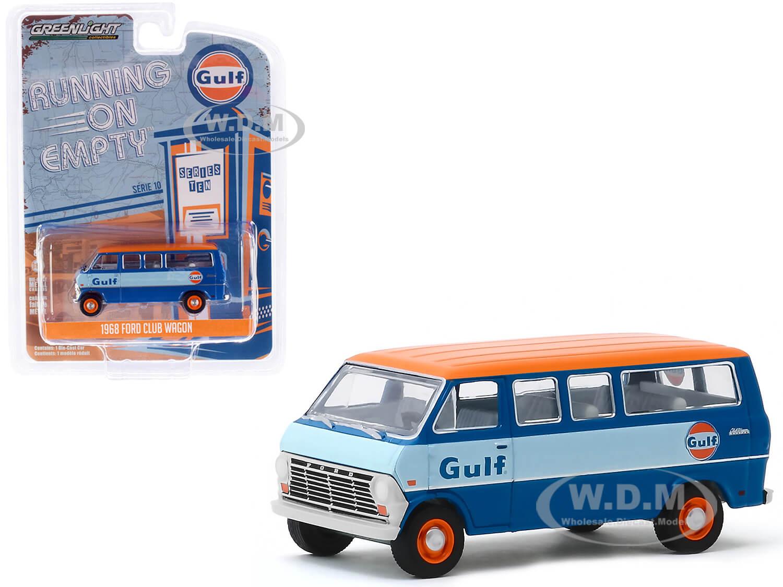 1968 Ford Club Wagon Bus Blue with Orange Top