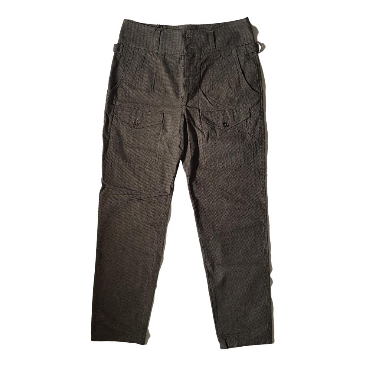 Pantalones en Algodon Beige Dolce & Gabbana