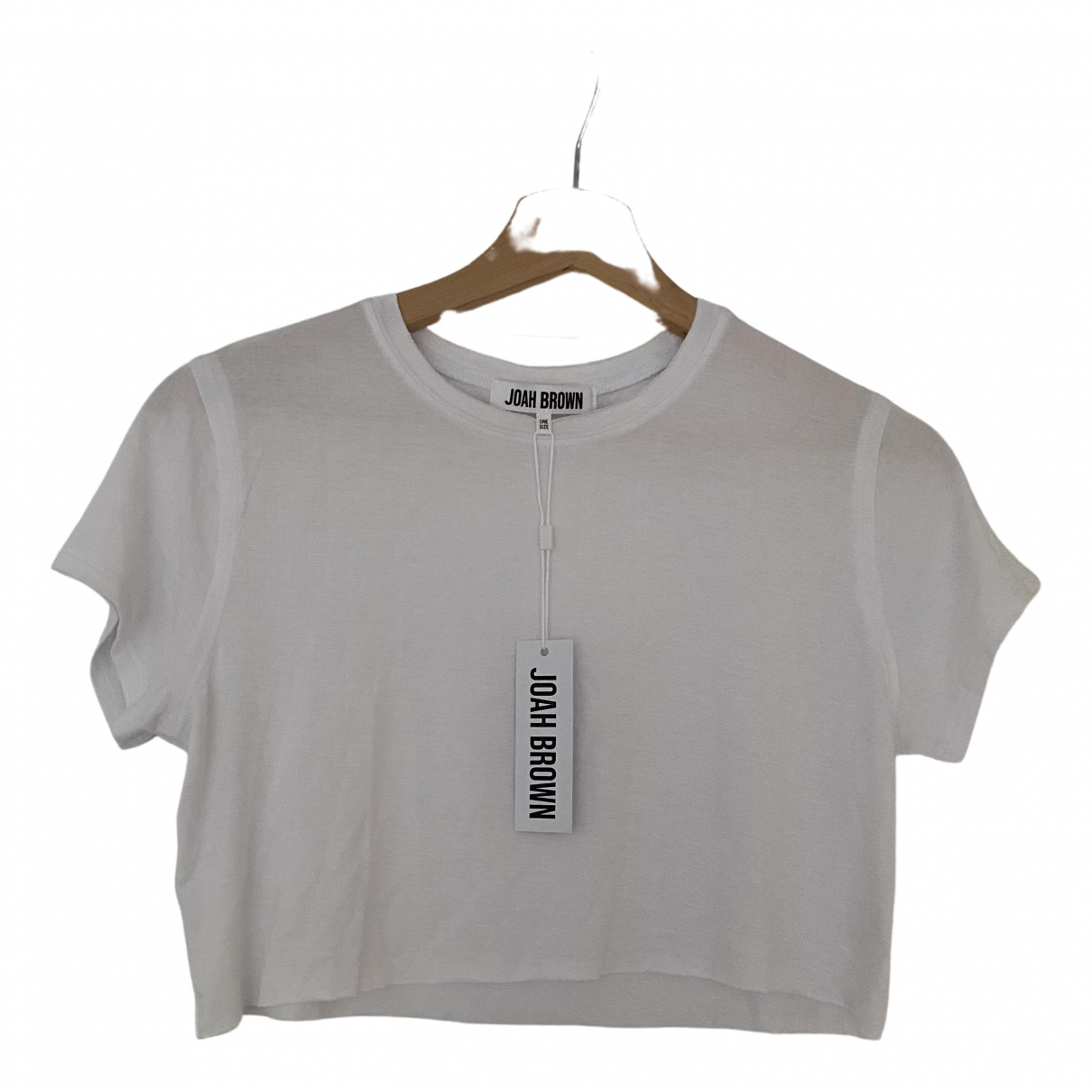Non Signé / Unsigned \N White Cotton  top for Women 8 UK