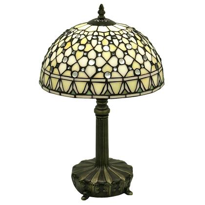 234768 Tiffany-style White Jewel Lamp in