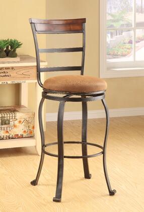 BM152011 Tavio Bar Chair with Swivel  Fabric & Antiqued Bronze  Set of